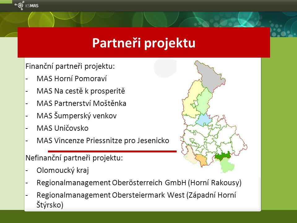 Partneři projektu Finanční partneři projektu: MAS Horní Pomoraví