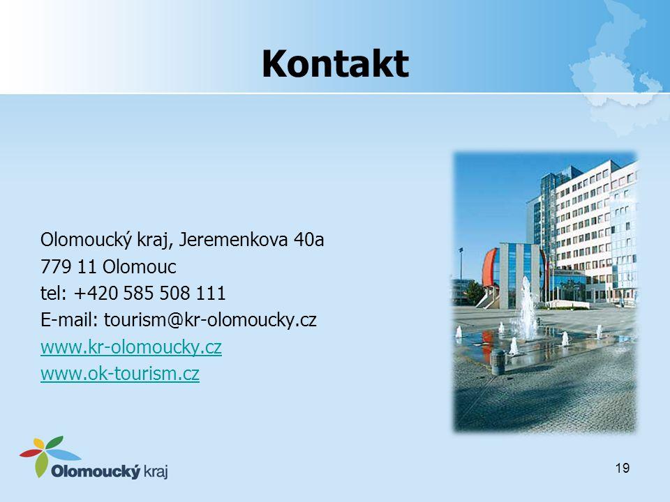 Kontakt Olomoucký kraj, Jeremenkova 40a 779 11 Olomouc