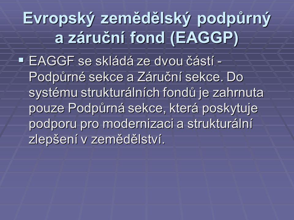 Evropský zemědělský podpůrný a záruční fond (EAGGP)