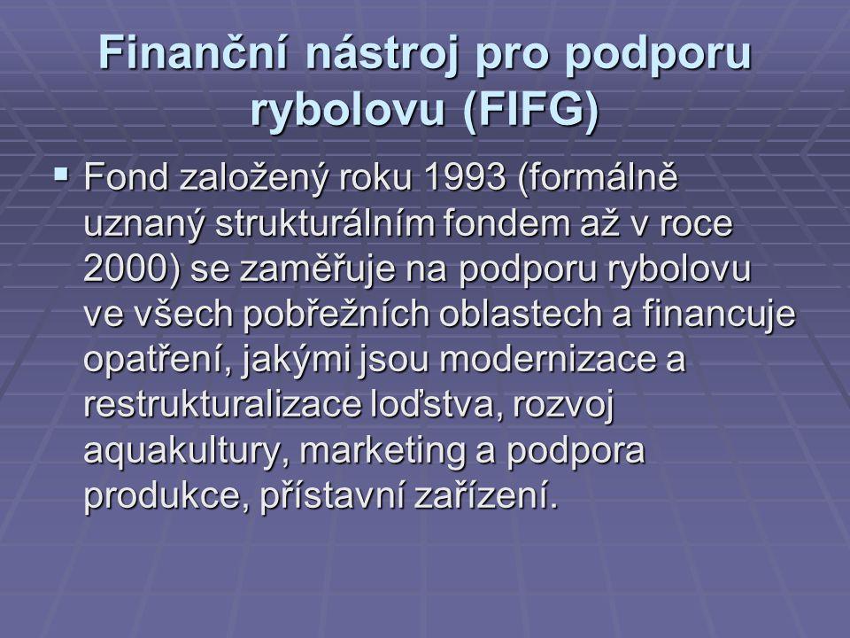 Finanční nástroj pro podporu rybolovu (FIFG)