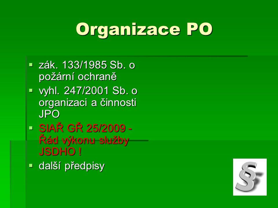 Organizace PO zák. 133/1985 Sb. o požární ochraně