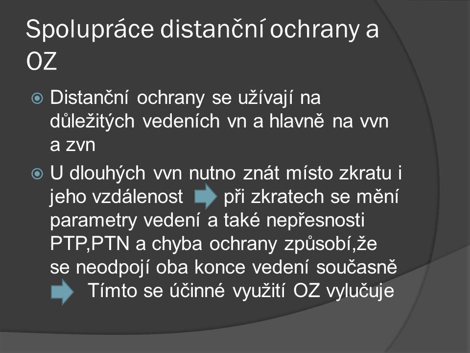 Spolupráce distanční ochrany a OZ