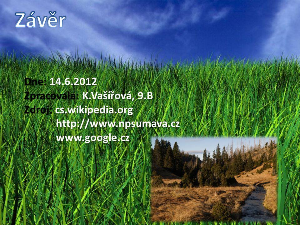 Závěr Dne: 14.6.2012 Zpracovala: K.Vašířová, 9.B
