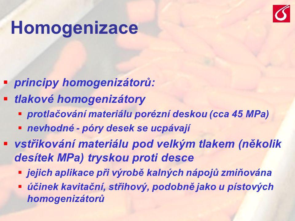 Homogenizace principy homogenizátorů: tlakové homogenizátory
