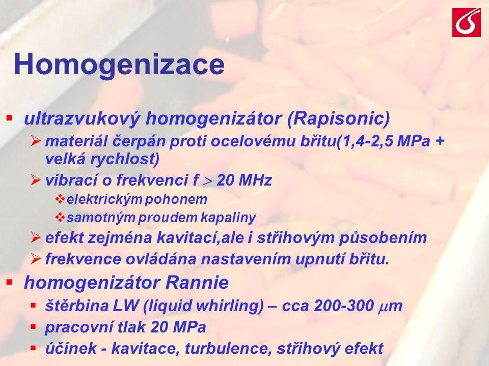 Homogenizace ultrazvukový homogenizátor (Rapisonic)