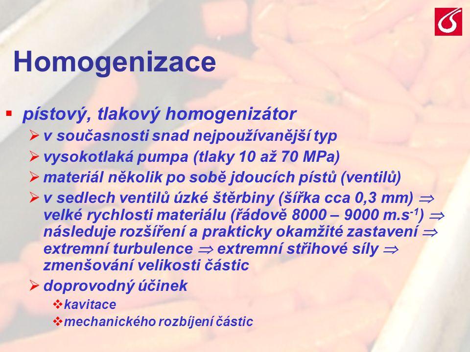 Homogenizace pístový, tlakový homogenizátor