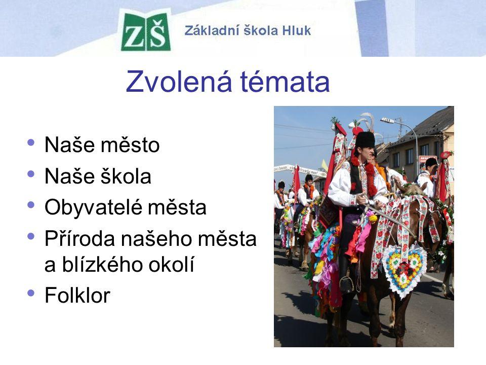 Zvolená témata Naše město Naše škola Obyvatelé města