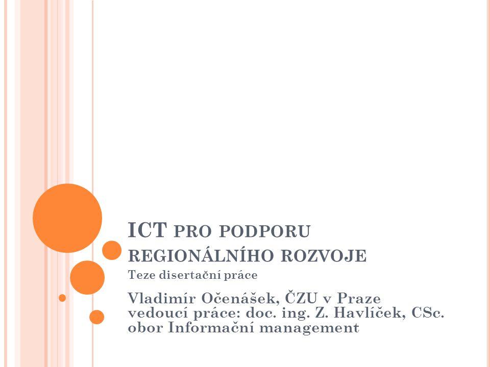 ICT pro podporu regionálního rozvoje