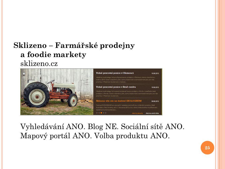 Sklizeno – Farmářské prodejny a foodie markety sklizeno