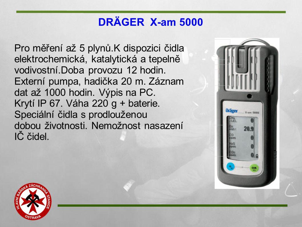 DRÄGER X-am 5000 Pro měření až 5 plynů.K dispozici čidla