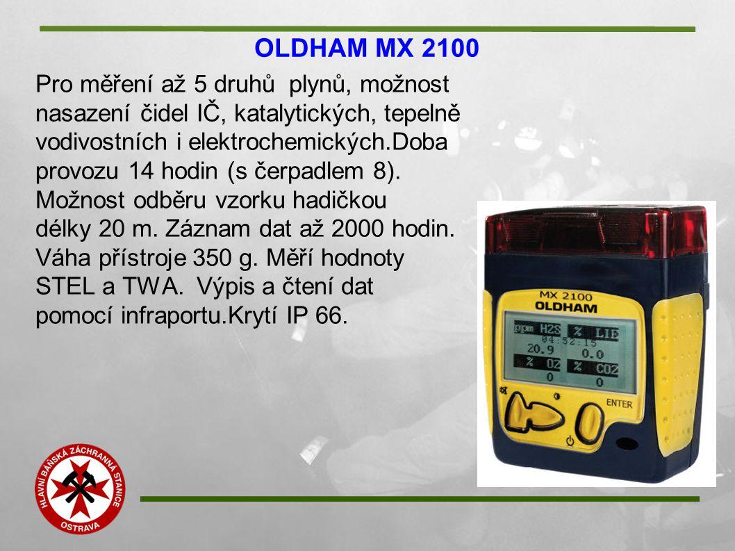OLDHAM MX 2100 Pro měření až 5 druhů plynů, možnost