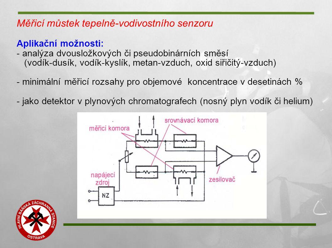 Měřicí můstek tepelně-vodivostního senzoru