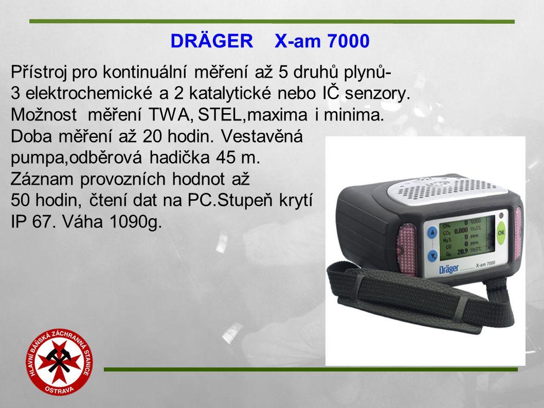DRÄGER X-am 7000 Přístroj pro kontinuální měření až 5 druhů plynů-