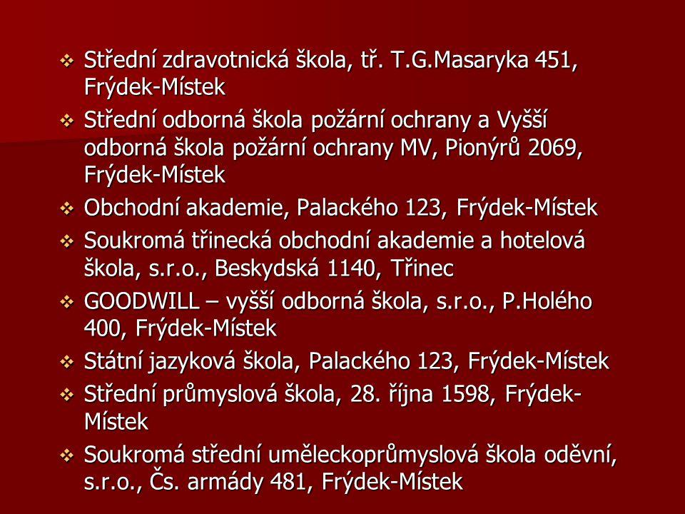 Střední zdravotnická škola, tř. T.G.Masaryka 451, Frýdek-Místek