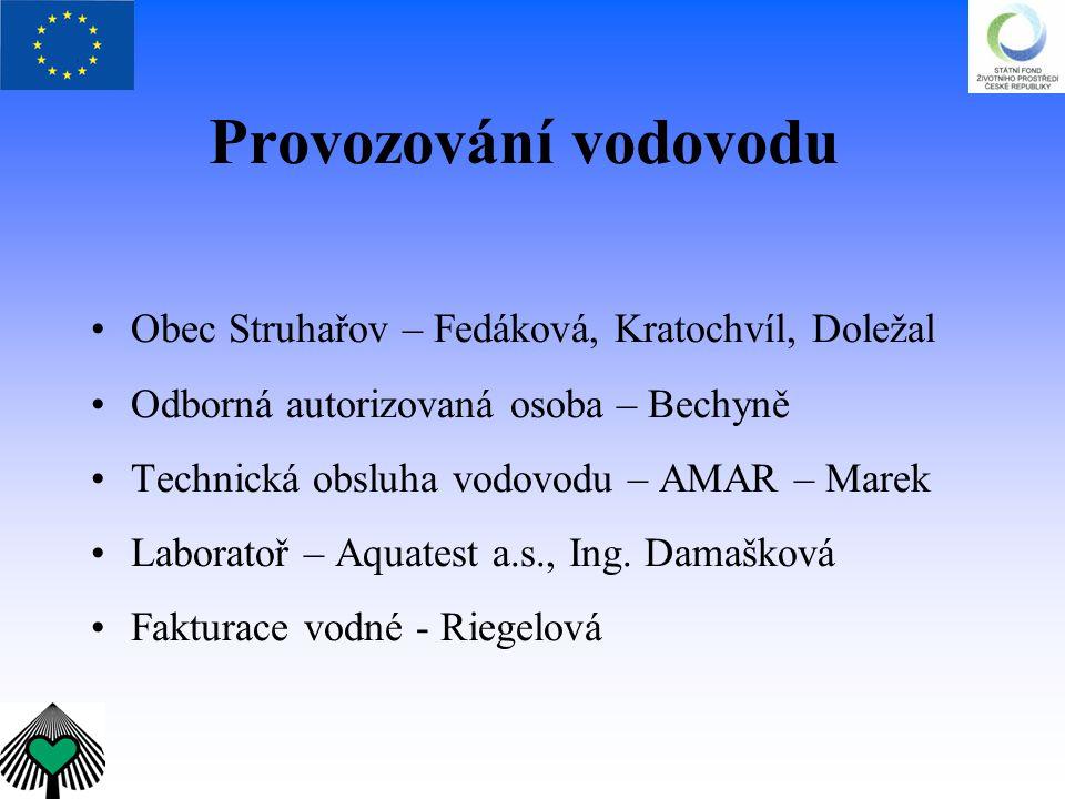 Provozování vodovodu Obec Struhařov – Fedáková, Kratochvíl, Doležal