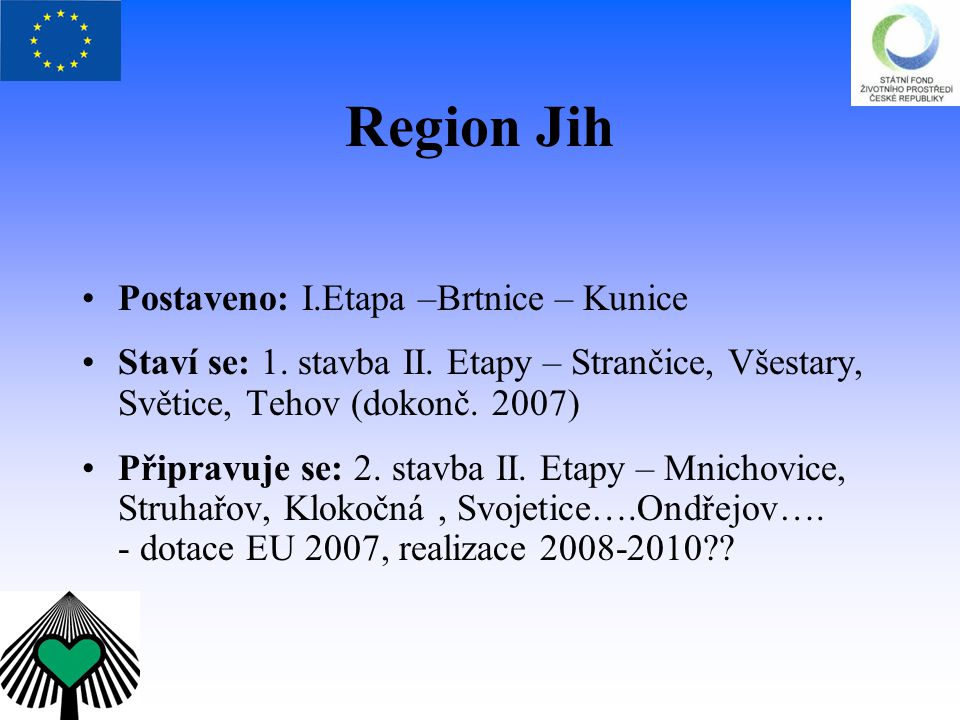 Region Jih Postaveno: I.Etapa –Brtnice – Kunice