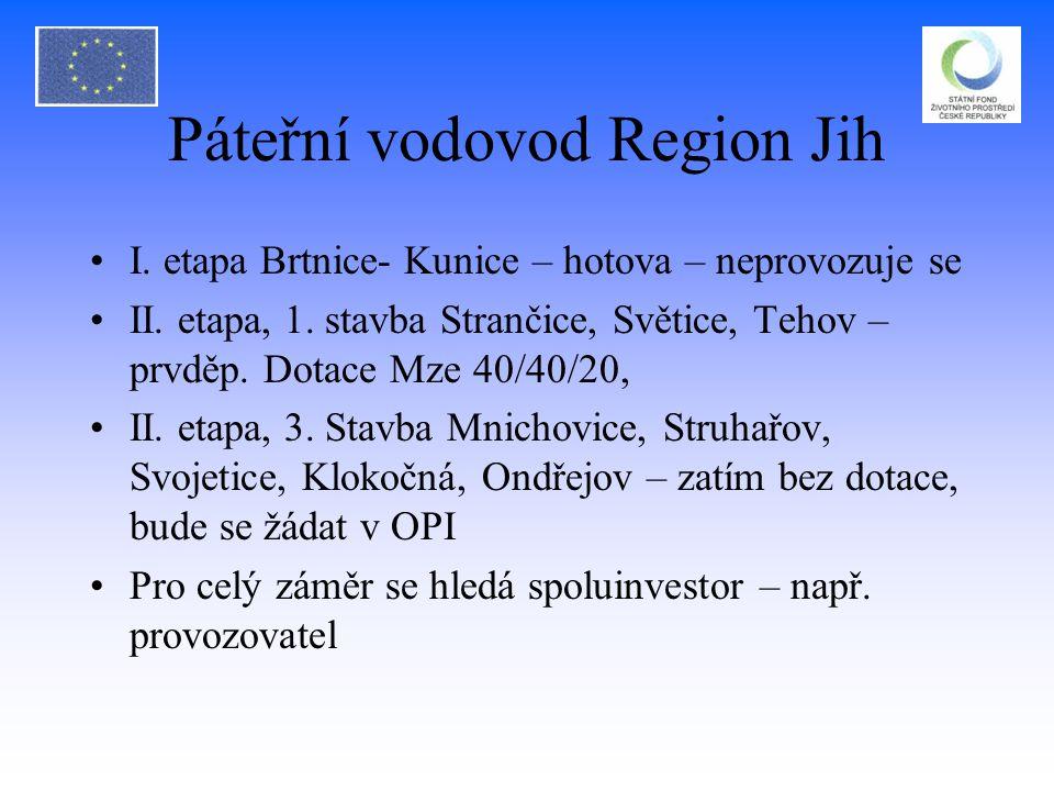 Páteřní vodovod Region Jih