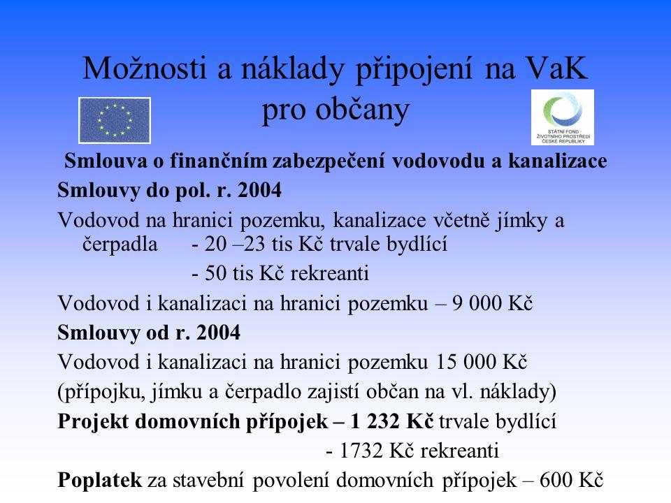 Možnosti a náklady připojení na VaK pro občany