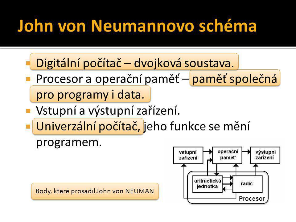 John von Neumannovo schéma