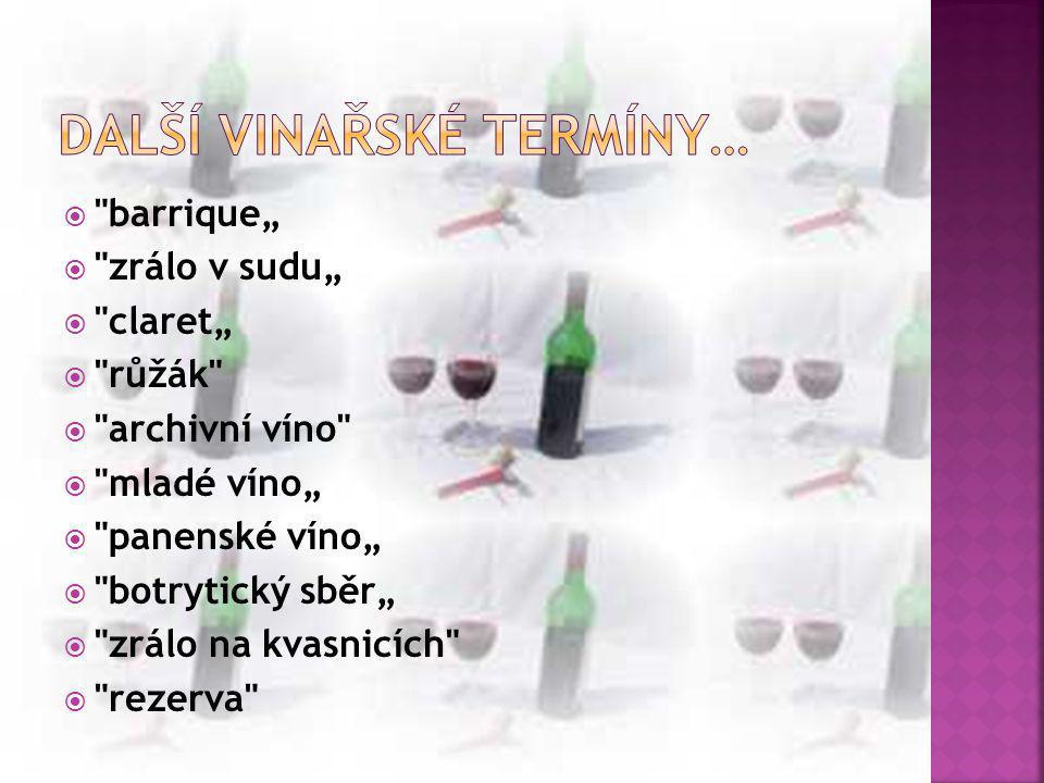 Další vinařské termíny…