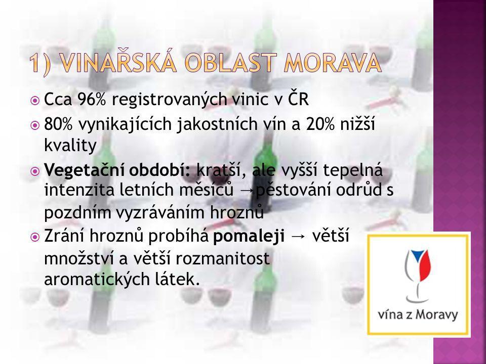 1) vinařská oblast Morava