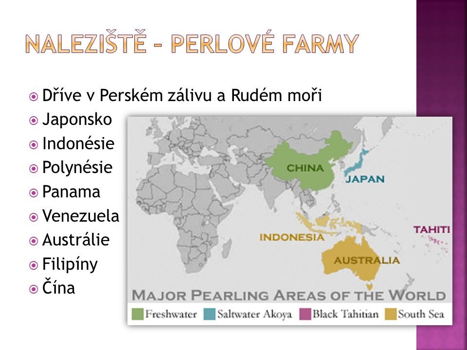 Naleziště – perlové farmy