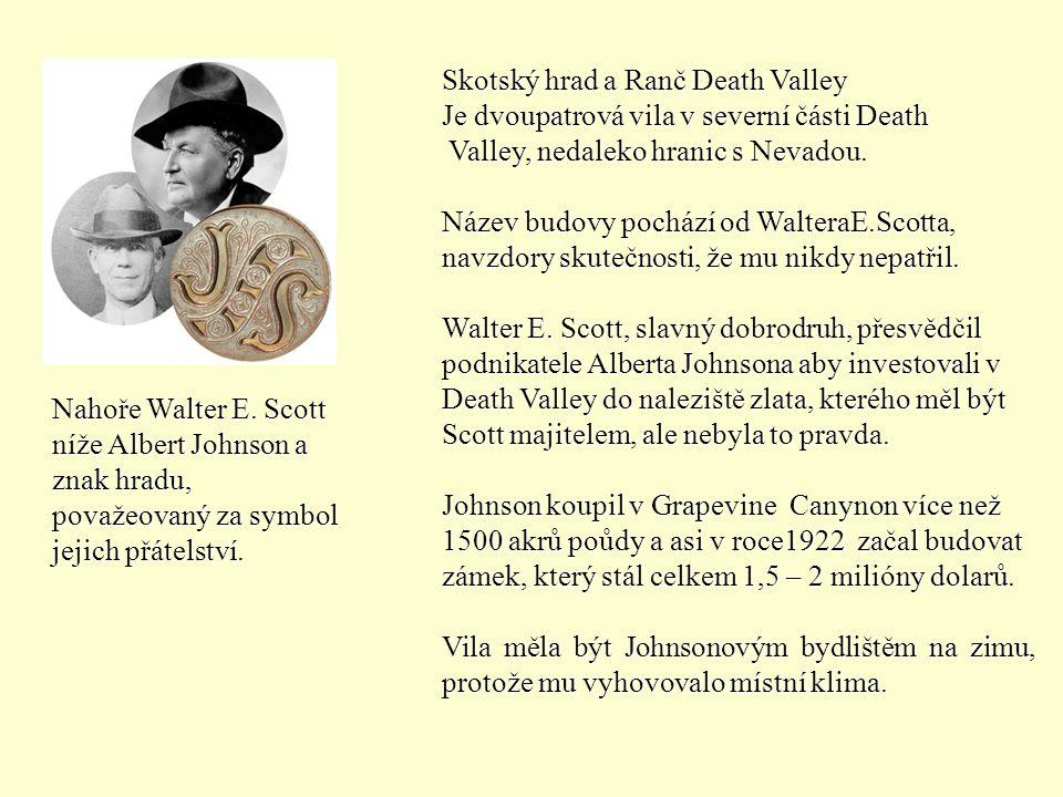 Skotský hrad a Ranč Death Valley