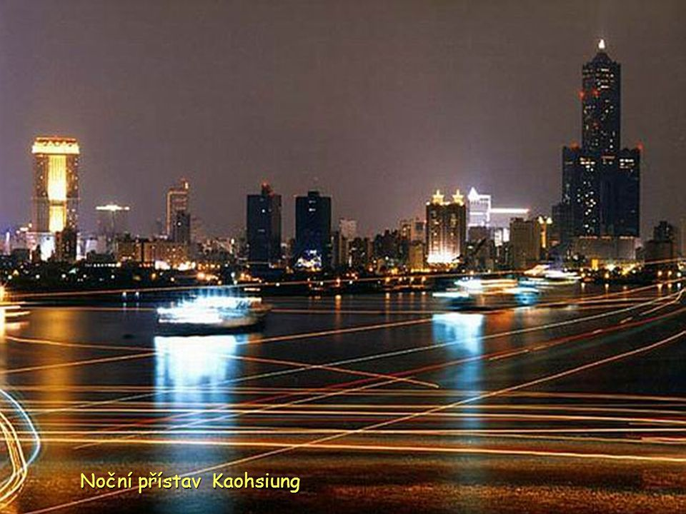 Noční přístav Kaohsiung