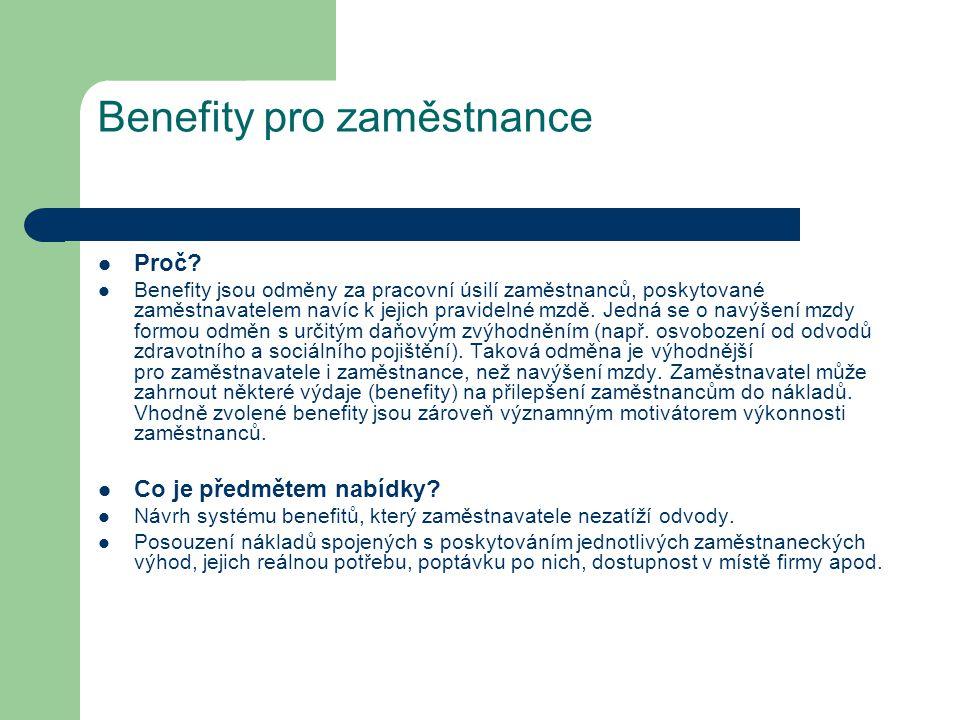 Benefity pro zaměstnance