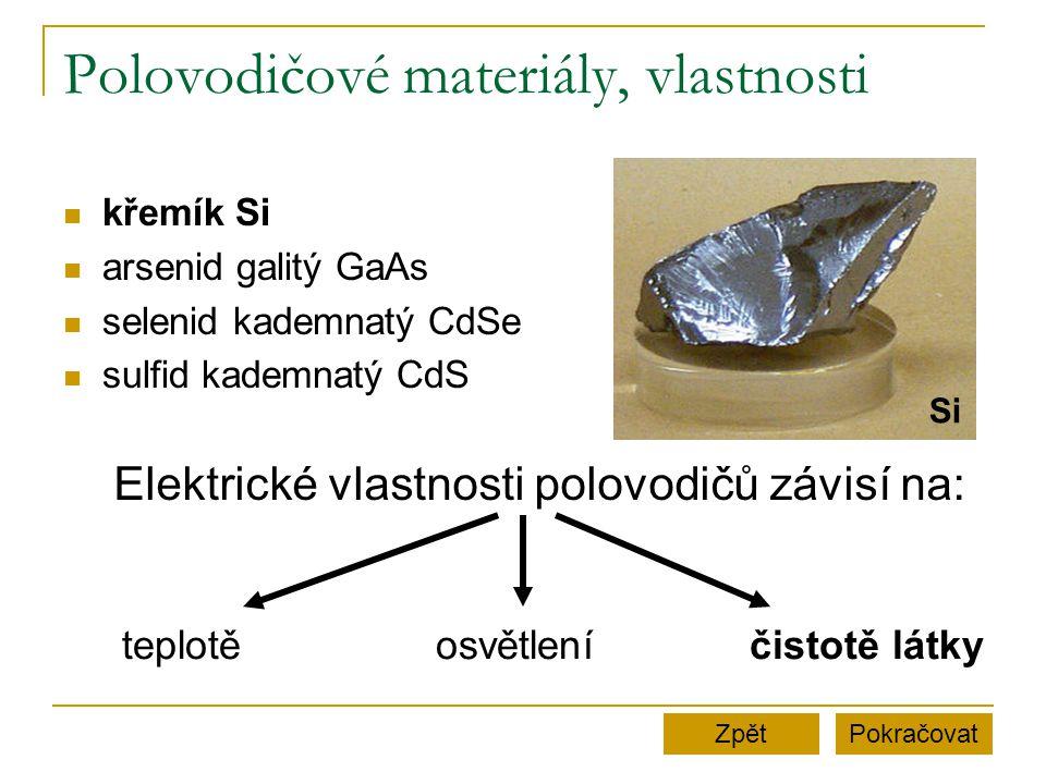 Polovodičové materiály, vlastnosti