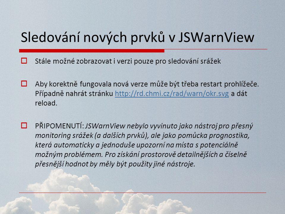 Sledování nových prvků v JSWarnView