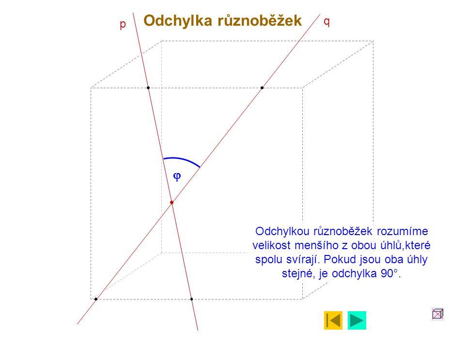 Odchylka různoběžek j q p