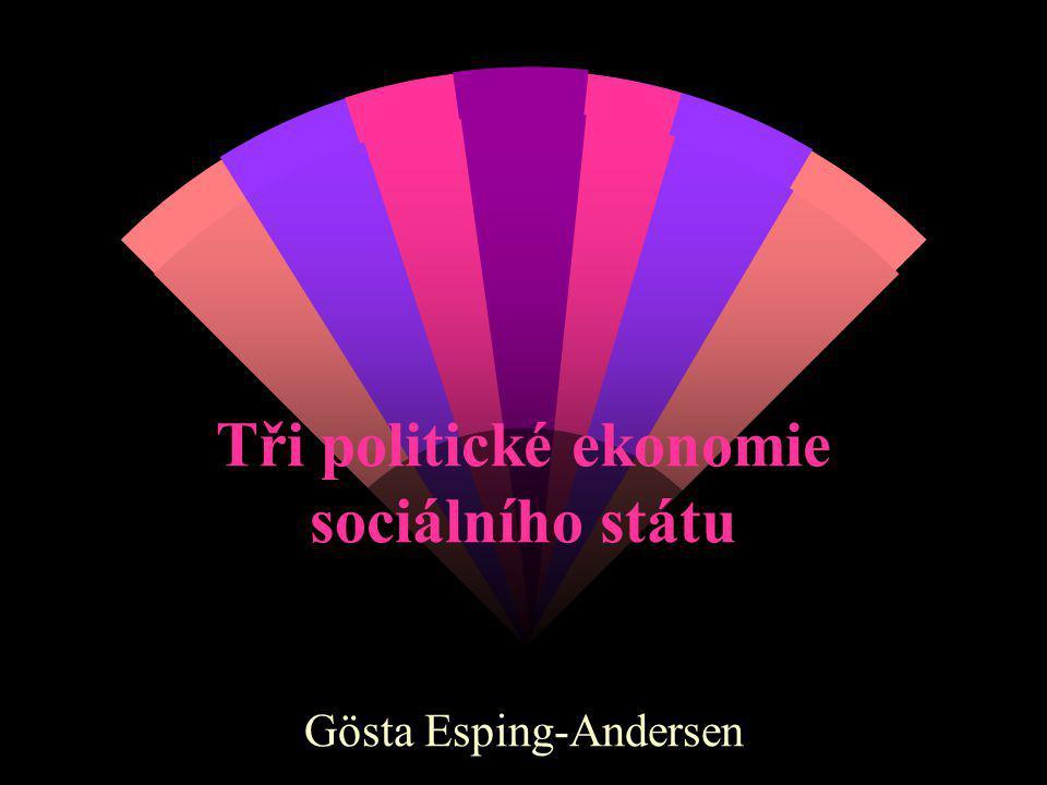 Tři politické ekonomie sociálního státu