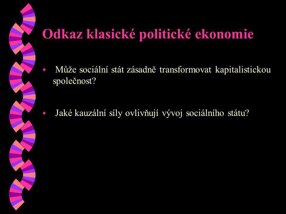 Odkaz klasické politické ekonomie