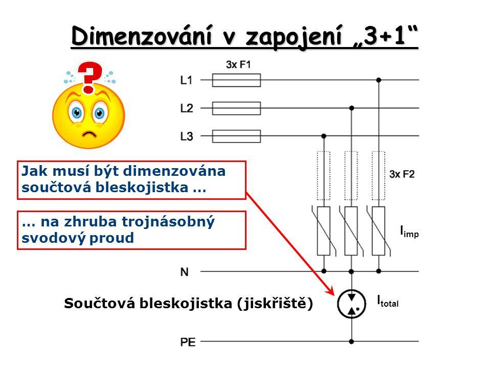 """Dimenzování v zapojení """"3+1"""