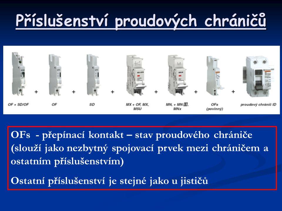 Příslušenství proudových chráničů