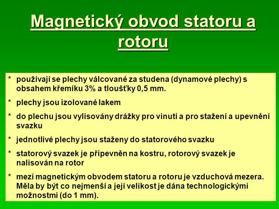 Magnetický obvod statoru a rotoru