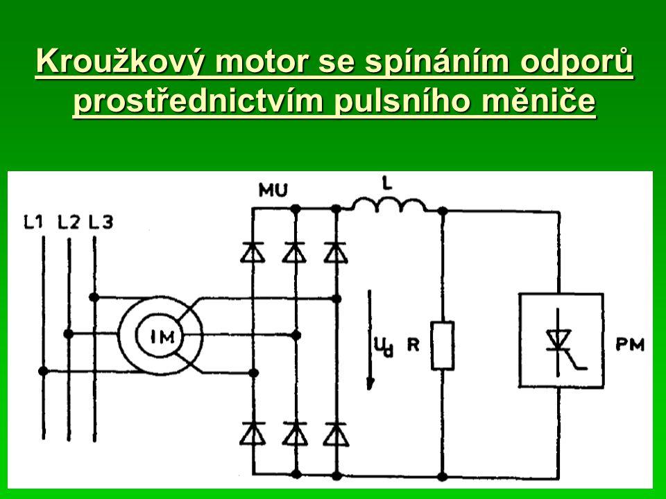 Kroužkový motor se spínáním odporů prostřednictvím pulsního měniče