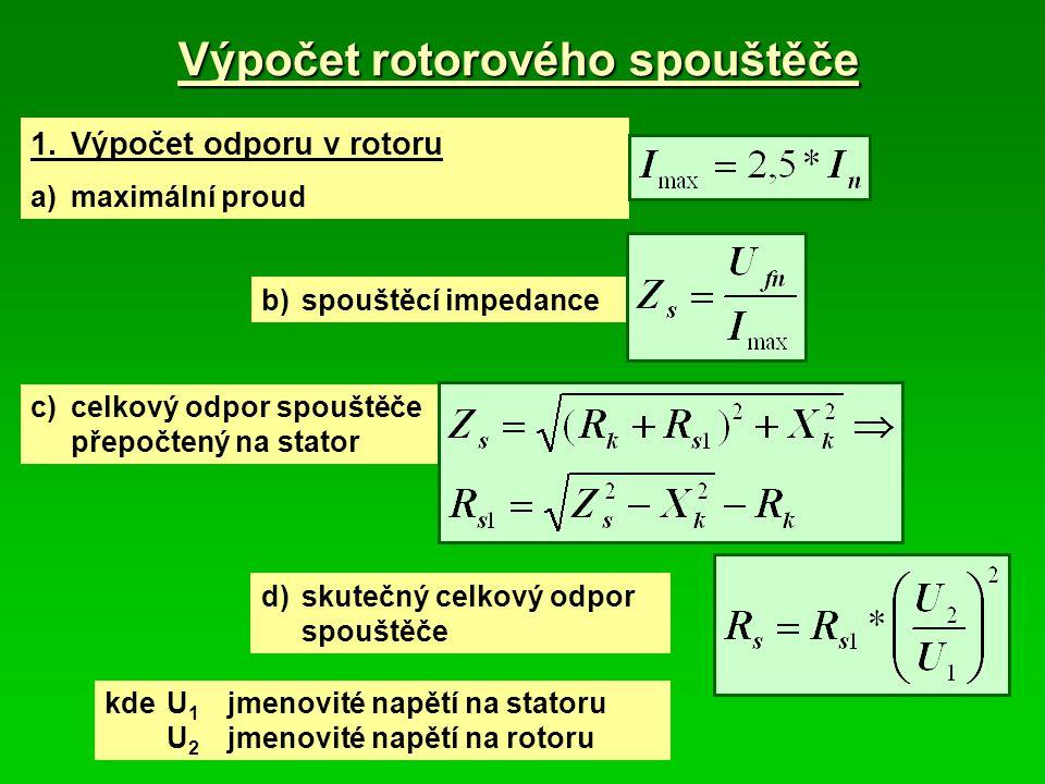 Výpočet rotorového spouštěče