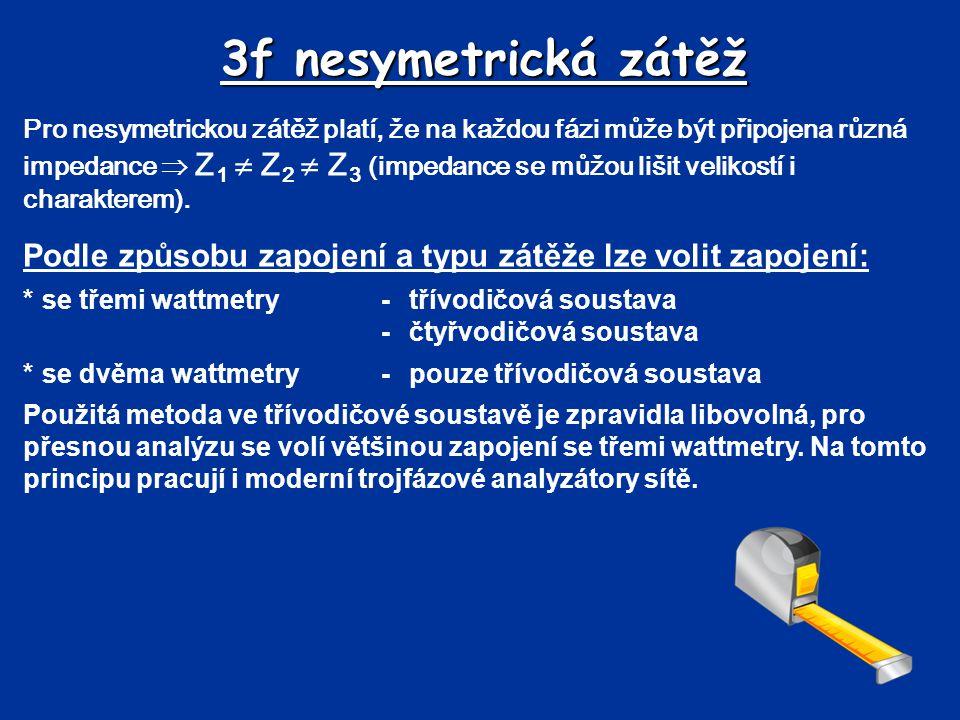 3f nesymetrická zátěž