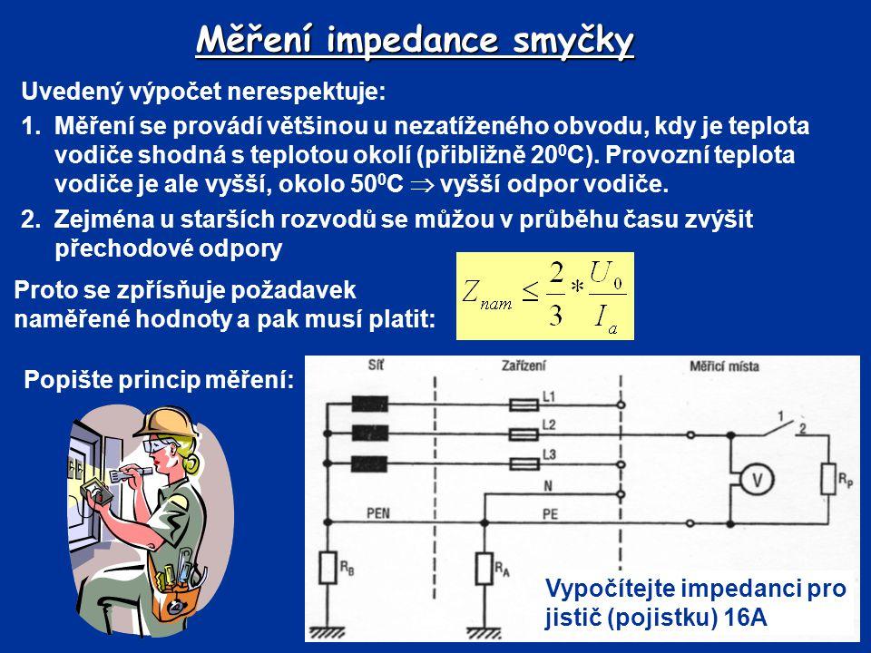 Měření impedance smyčky