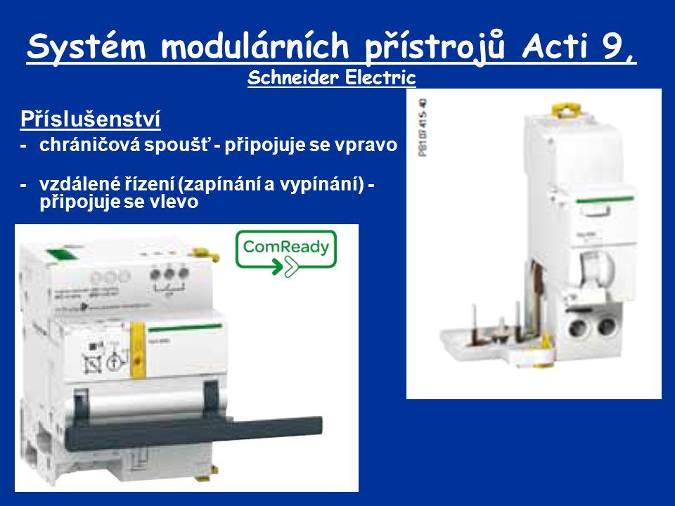 Systém modulárních přístrojů Acti 9, Schneider Electric