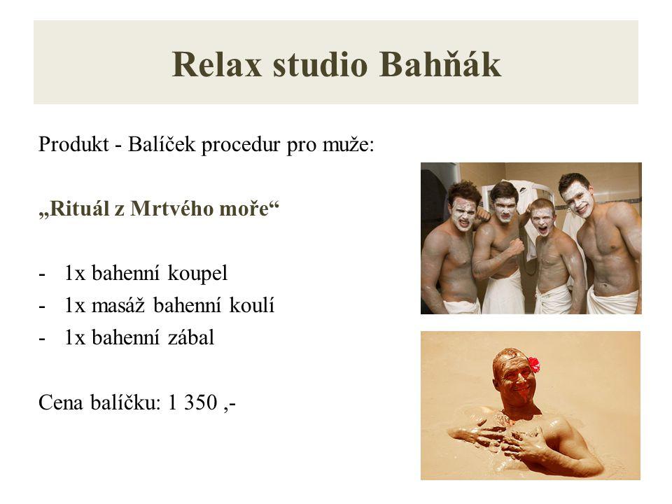 Relax studio Bahňák Produkt - Balíček procedur pro muže: