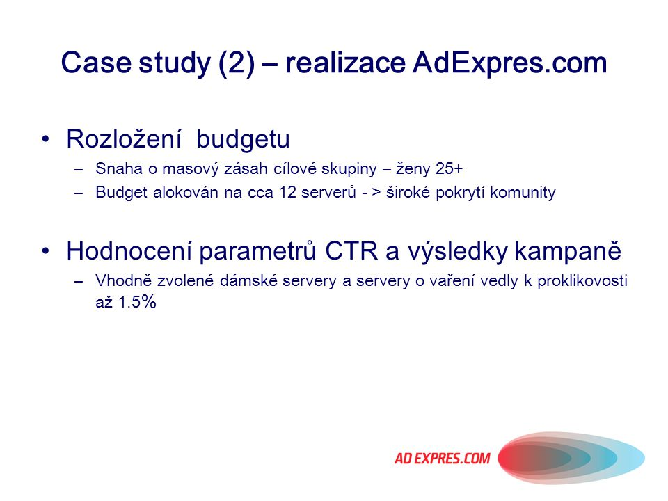 Case study (2) – realizace AdExpres.com