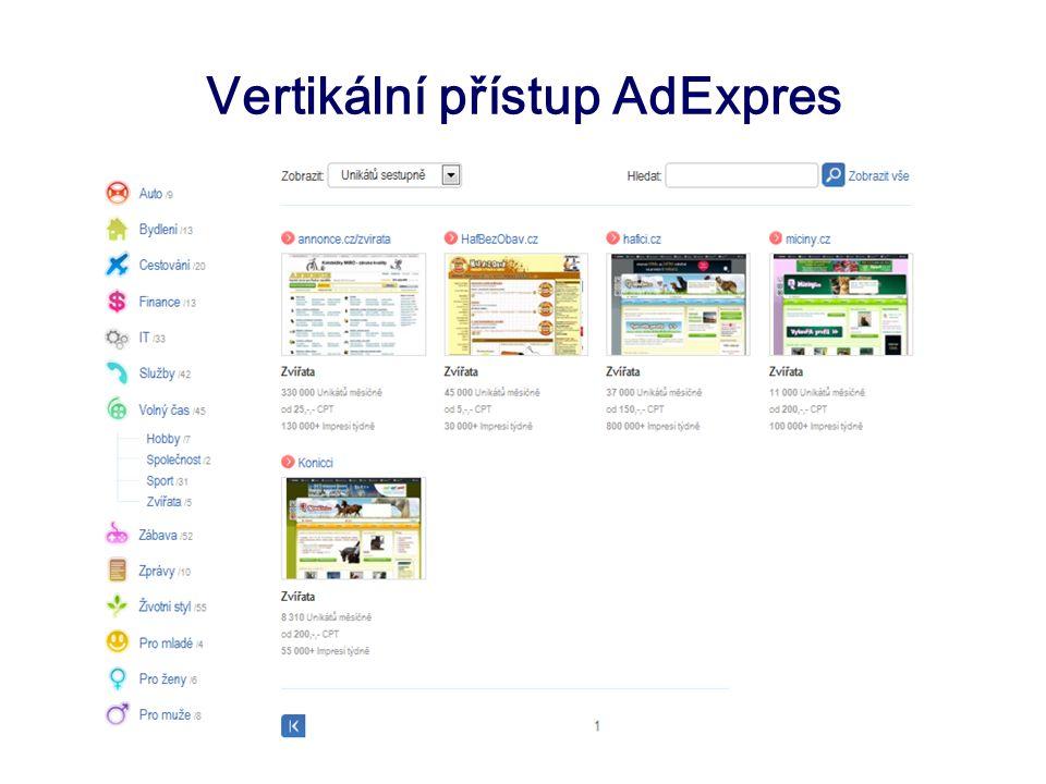 Vertikální přístup AdExpres
