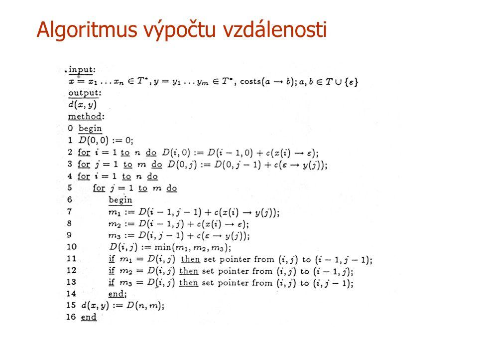Algoritmus výpočtu vzdálenosti