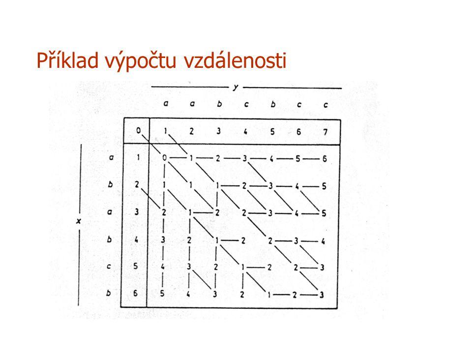 Příklad výpočtu vzdálenosti