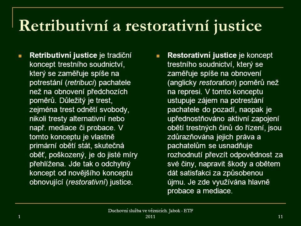 Retributivní a restorativní justice