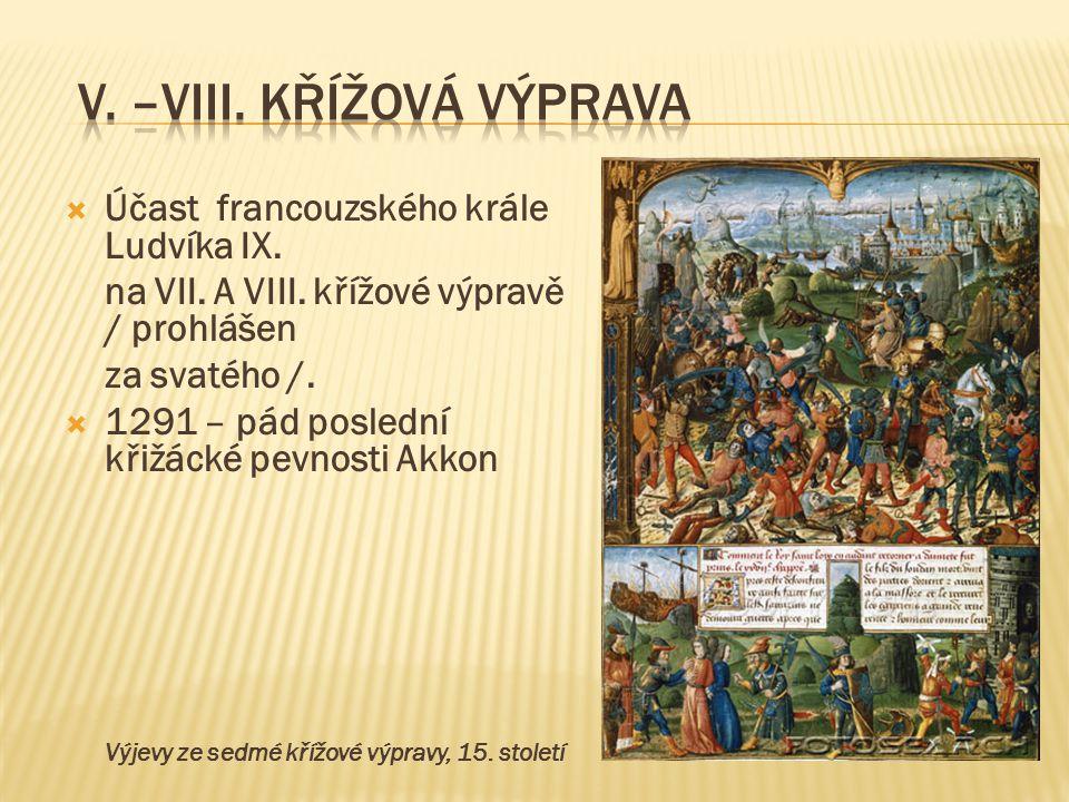 V. –VIII. křížová výprava