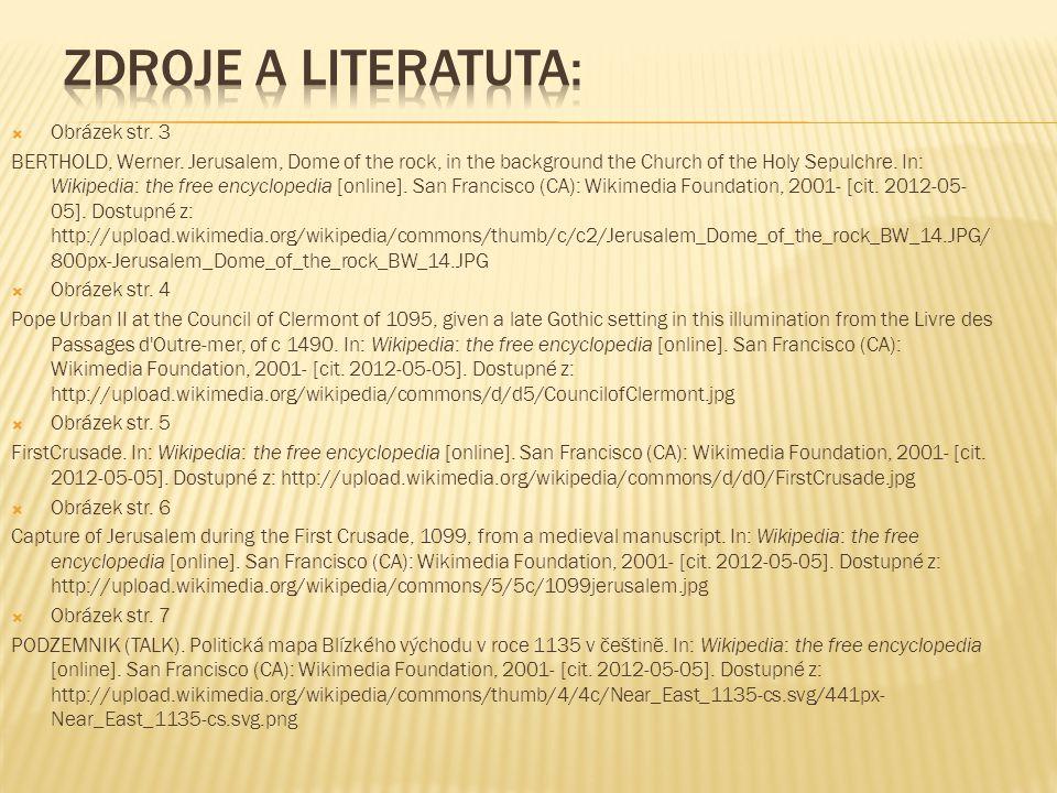 Zdroje a literatuta: Obrázek str. 3